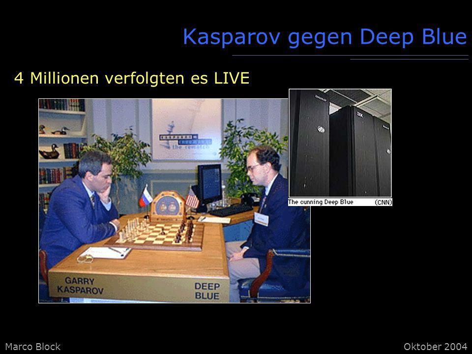 Marco BlockOktober 2004 Kasparov gegen Deep Blue 4 Millionen verfolgten es LIVE