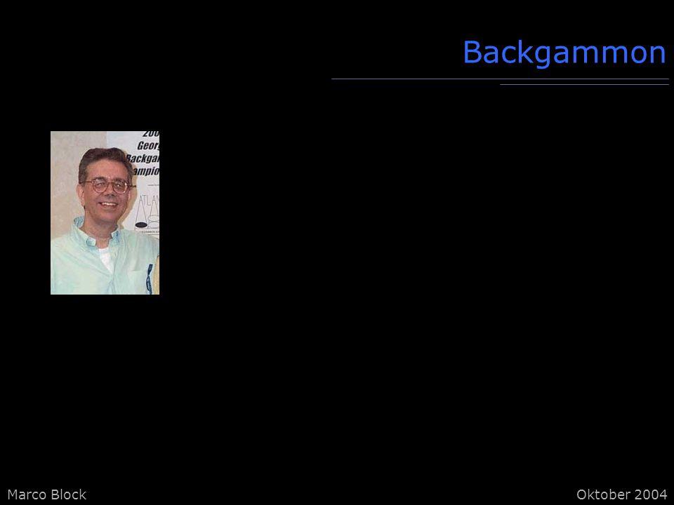 Marco BlockOktober 2004 Backgammon
