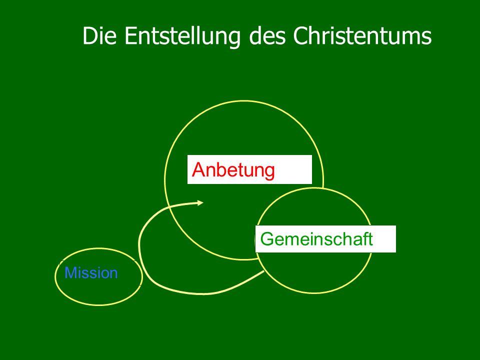 Die Entstellung des Christentums Anbetung Mission Gemeinschaft