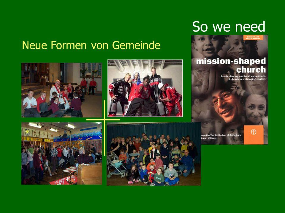 So we need Neue Formen von Gemeinde