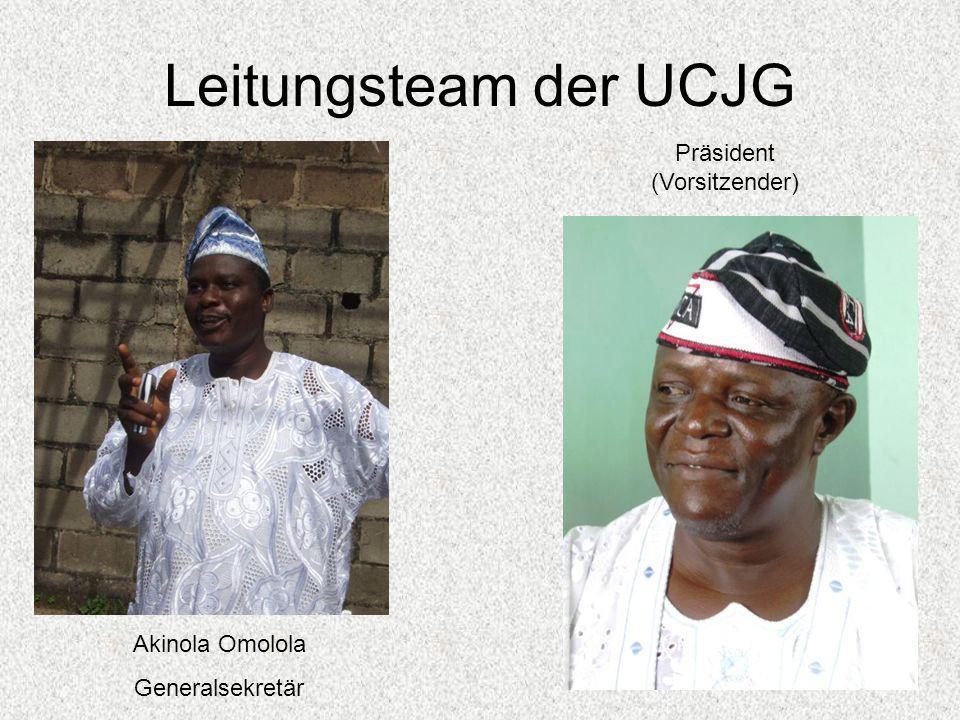 Leitungsteam der UCJG Präsident (Vorsitzender) Akinola Omolola Generalsekretär