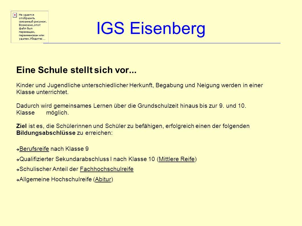 IGS Eisenberg Individuelles Fördern und Fordern...