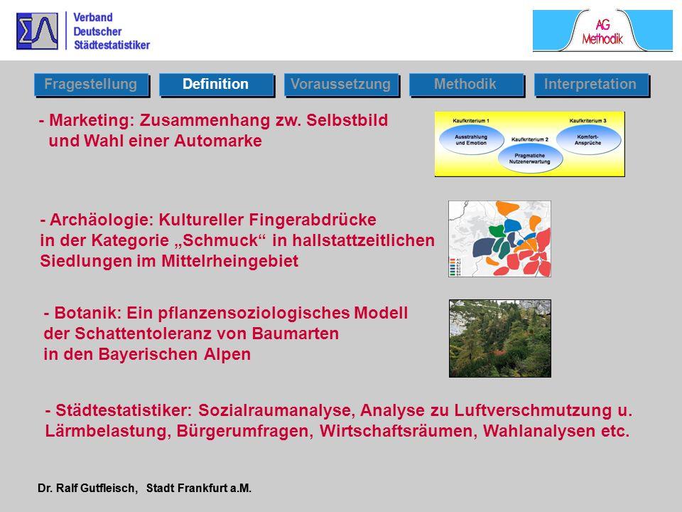 Dr. Ralf Gutfleisch, Stadt Frankfurt a.M. - Marketing: Zusammenhang zw. Selbstbild und Wahl einer Automarke Fragestellung Definition Voraussetzung Int