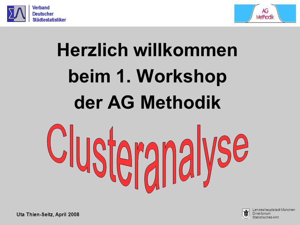 Uta Thien-Seitz, April 2008 Landeshauptstadt München Direktorium Statistisches Amt Herzlich willkommen beim 1. Workshop der AG Methodik