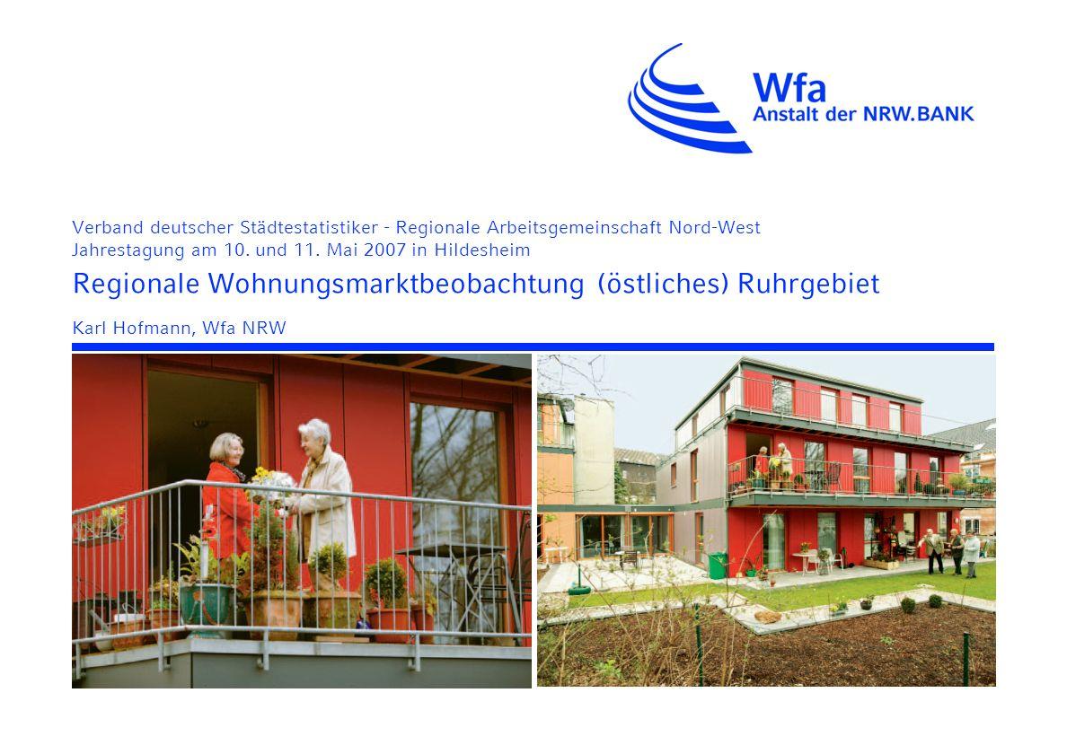 Verband deutscher Städtestatistiker - Regionale Arbeitsgemeinschaft Nord-West Jahrestagung am 10.