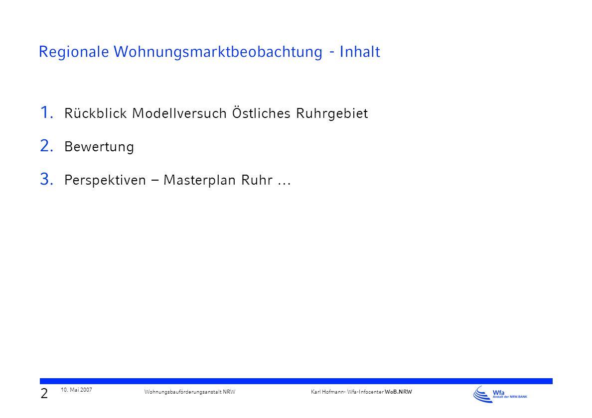 Verband deutscher Städtestatistiker - Regionale Arbeitsgemeinschaft Nord-West Jahrestagung am 10. und 11. Mai 2007 in Hildesheim Regionale Wohnungsmar