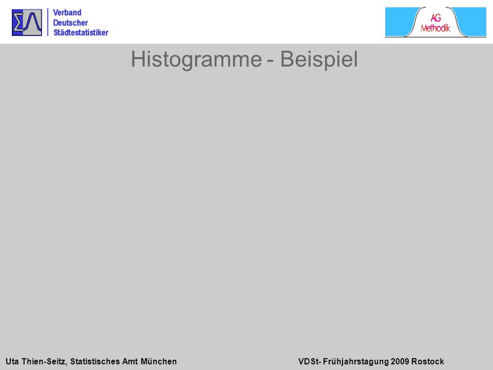 Uta Thien-Seitz, Statistisches Amt München VDSt- Frühjahrstagung 2009 Rostock Histogramme - Beispiel