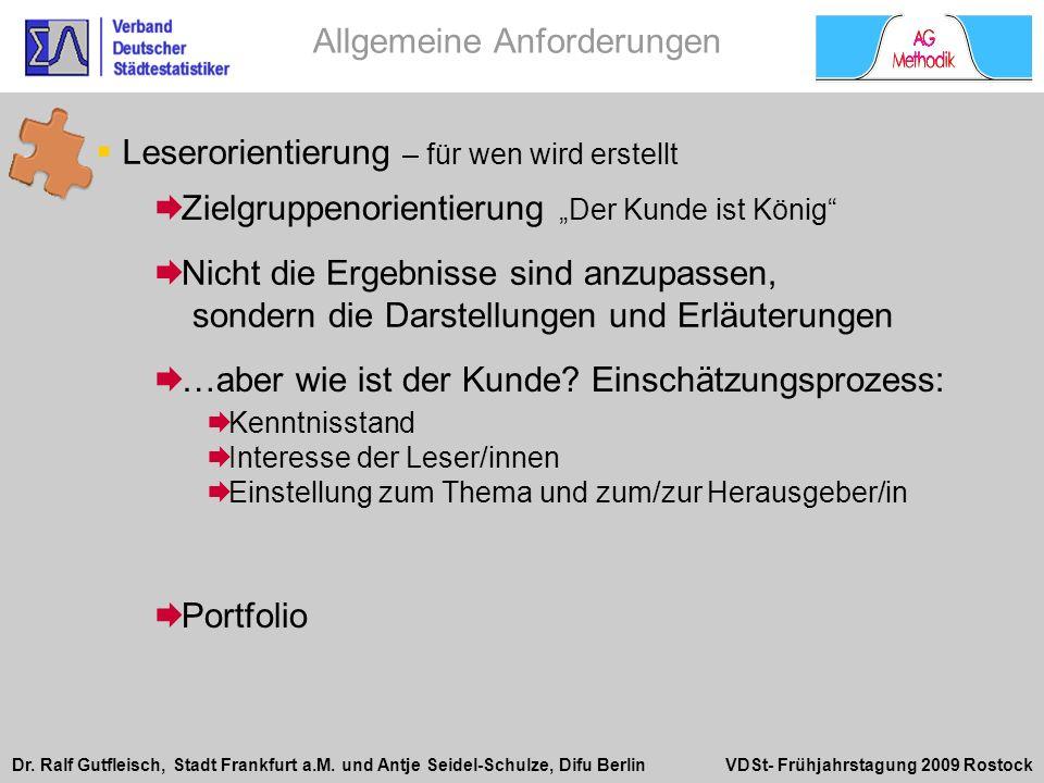 Dr. Ralf Gutfleisch, Stadt Frankfurt a.M. und Antje Seidel-Schulze, Difu Berlin VDSt- Frühjahrstagung 2009 Rostock Zielgruppenorientierung Der Kunde i