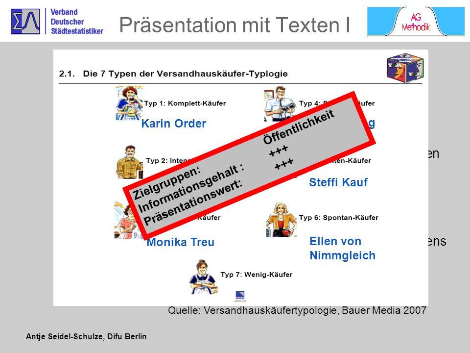 Antje Seidel-Schulze, Difu Berlin Auswahl treffender Clusterbezeichnungen Anwendungsbeispiel Kultursoziologie Untersuchung über kulturell-ästhetische