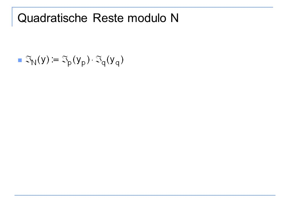 Quadratische Reste modulo N