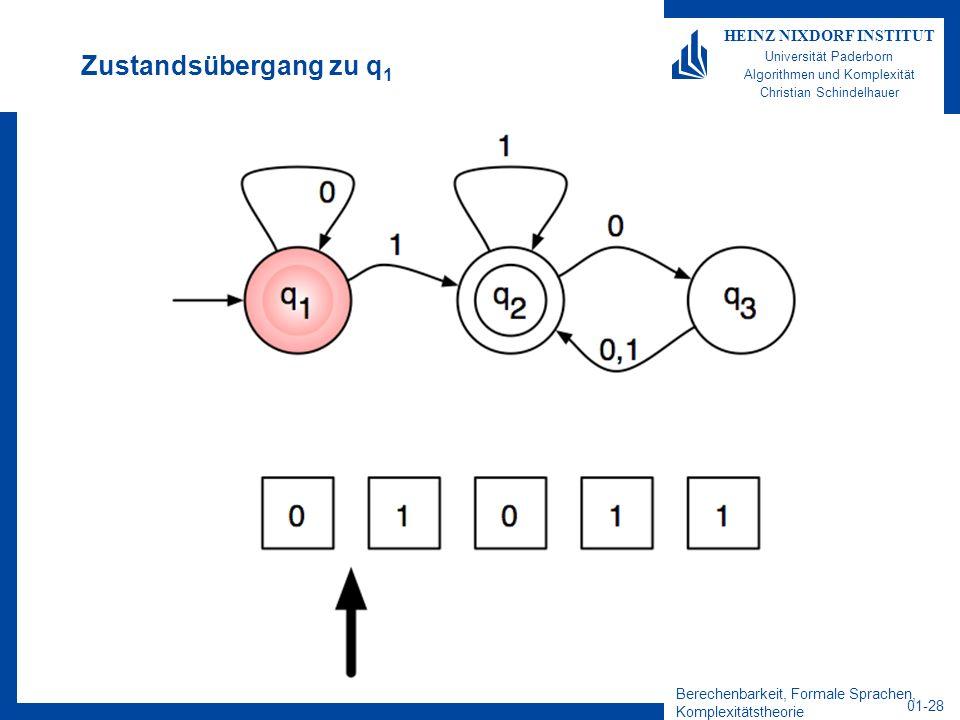 Berechenbarkeit, Formale Sprachen, Komplexitätstheorie 01-28 HEINZ NIXDORF INSTITUT Universität Paderborn Algorithmen und Komplexität Christian Schind