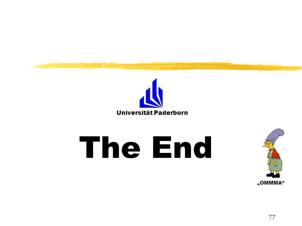 Universität Paderborn OMMMA 77 The End