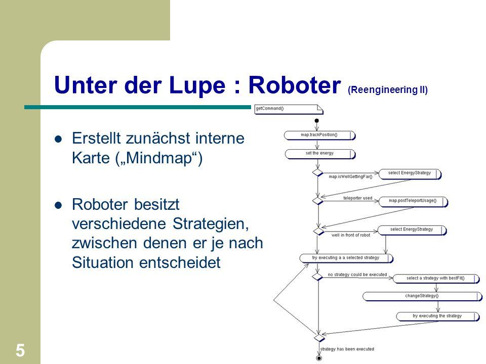 4 Universität Paderborn - Softwaretechnikpraktikum im SS2001 - Gruppe 11 Unter der Lupe : Arena / GUI (Reengineering I) Threads verursachen – höheren