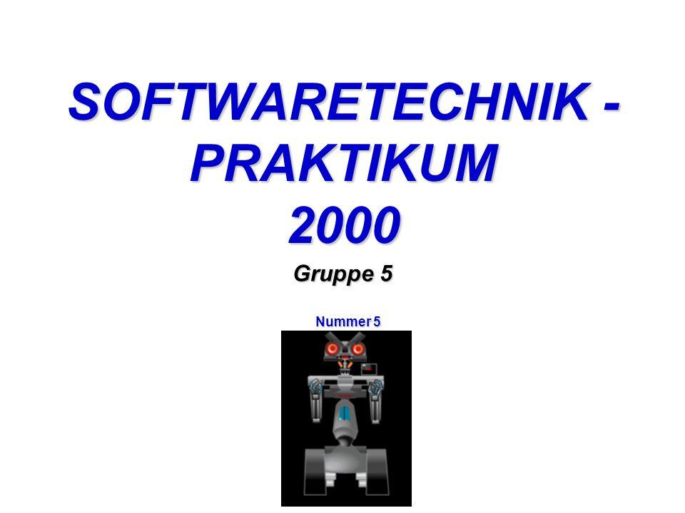 SOFTWARETECHNIK - PRAKTIKUM 2000 Gruppe 5 Nummer 5