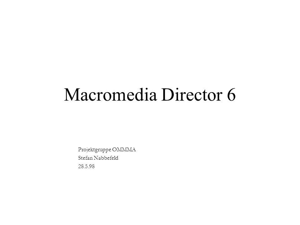 Macromedia Director 6 Projektgruppe OMMMA Stefan Nabbefeld 28.5.98