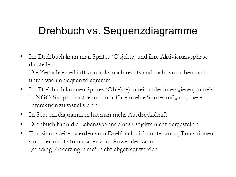 Drehbuch vs.