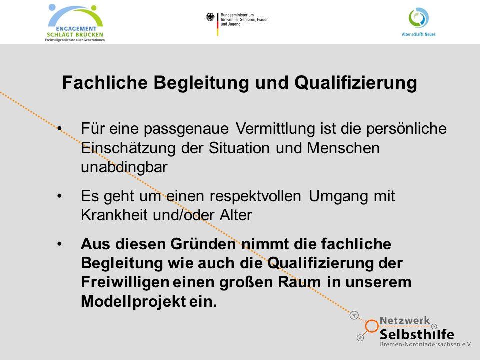 Fachliche Begleitung und Qualifizierung Für eine passgenaue Vermittlung ist die persönliche Einschätzung der Situation und Menschen unabdingbar Es geh