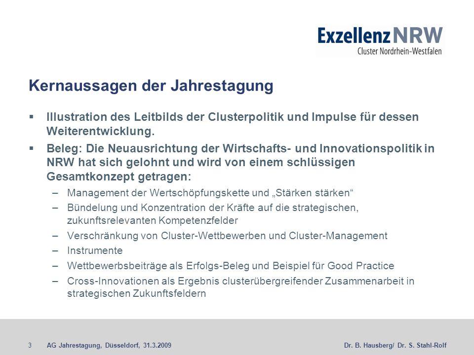 AG Jahrestagung, Düsseldorf, 31.3.20093Dr. B. Hausberg/ Dr.