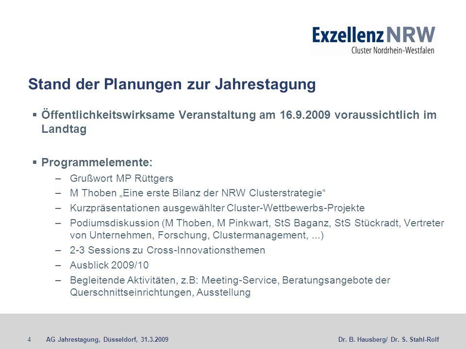 AG Jahrestagung, Düsseldorf, 31.3.20094Dr. B. Hausberg/ Dr.