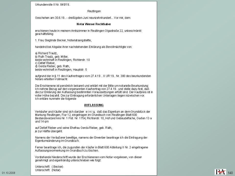 01.10.2008Investition und Finanzierung 140