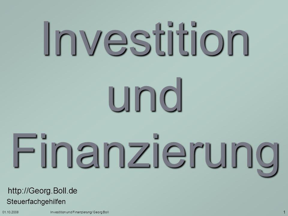 01.10.2008Investition und Finanzierung/ Georg Boll 2 Geschäftsidee Marktanalyse Beratung in Anspruch nehmen ja nein Ende Absatz- möglichkeiten vorhanden