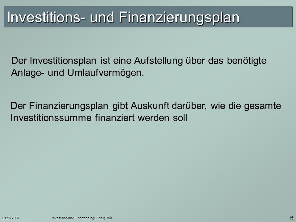 01.10.2008Investition und Finanzierung/ Georg Boll 16 sind ständig genug liquide Zahlungsmittel vorhanden und ist damit die Zahlungsfähigkeit des Unternehmens zu jedem Zeitpunkt gesichert .