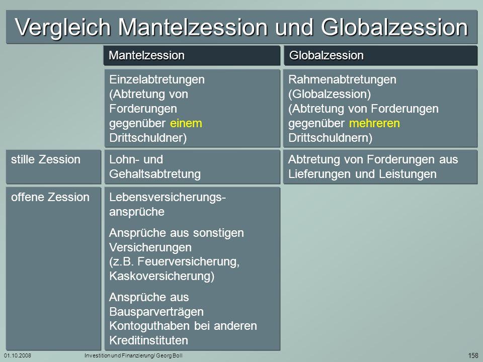 01.10.2008Investition und Finanzierung/ Georg Boll 159