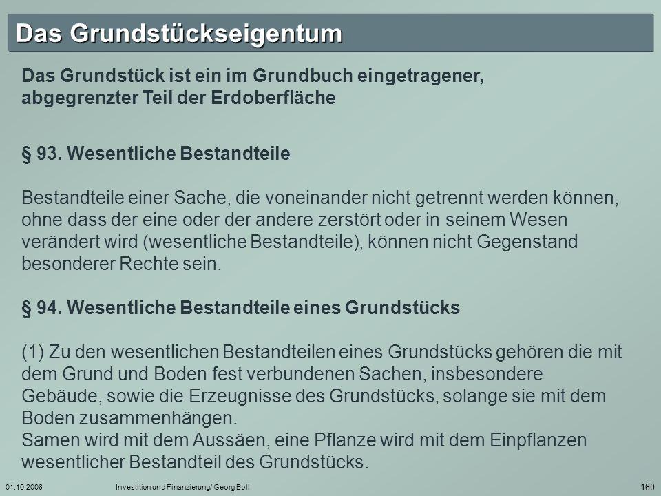 01.10.2008Investition und Finanzierung/ Georg Boll 161 § 95.