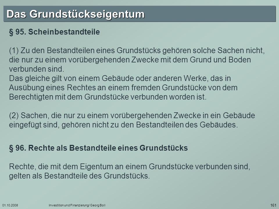 01.10.2008Investition und Finanzierung/ Georg Boll 162 § 97.