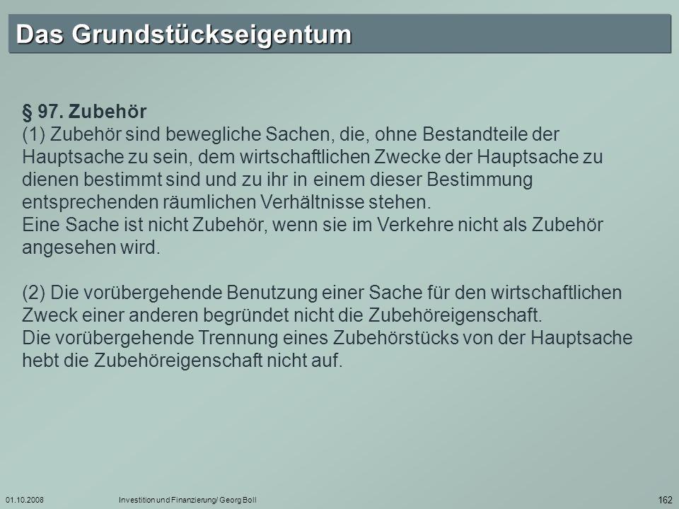 01.10.2008Investition und Finanzierung/ Georg Boll 163