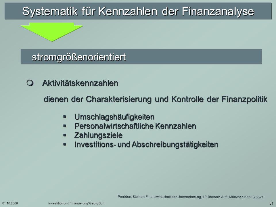 01.10.2008Investition und Finanzierung/ Georg Boll 52 Bestimmung des Eigenkapitals ( § 268 Abs.1 HGB) gezeichnetes Kapital gezeichnetes Kapital./.