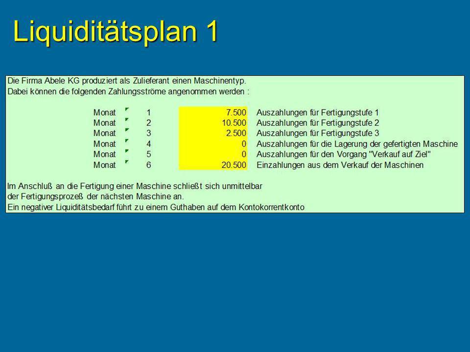 Liquiditätsplan 1