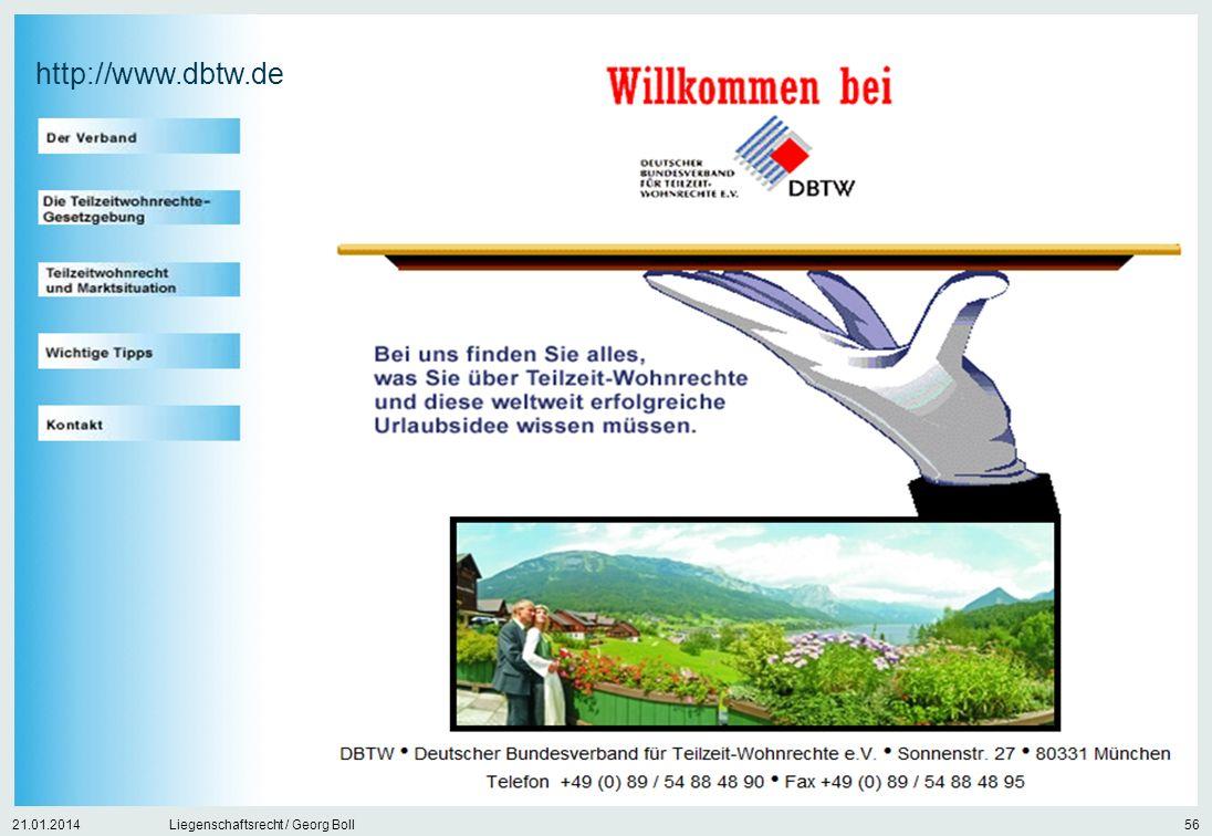 21.01.2014Liegenschaftsrecht / Georg Boll56 http://www.dbtw.de