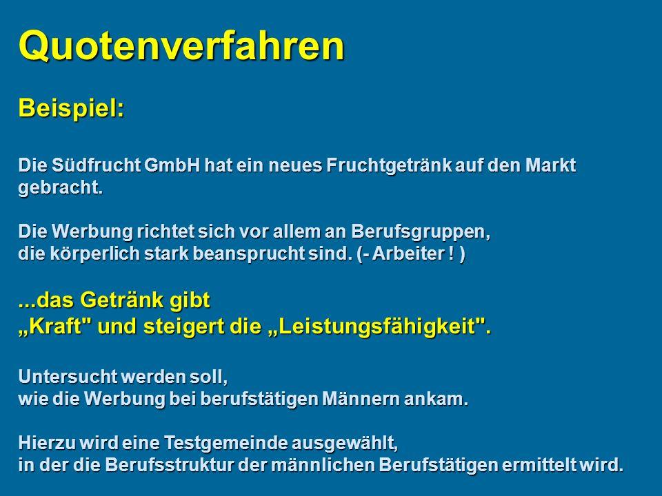 Beispiel: Die Südfrucht GmbH hat ein neues Fruchtgetränk auf den Markt gebracht.