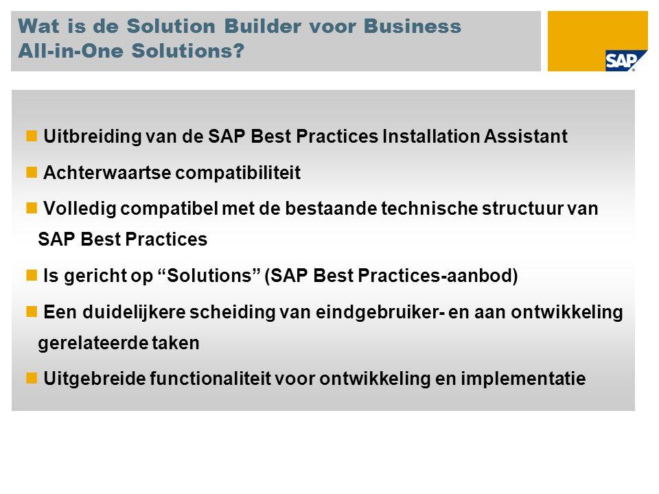 Wat is de Solution Builder voor Business All-in-One Solutions.
