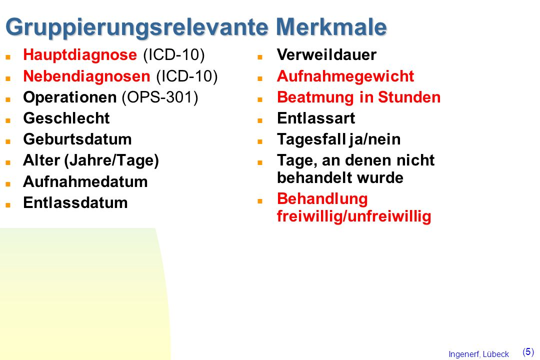 Ingenerf, Lübeck (6) Zertifizierte Grouper Zertifizierte Grouper (siehe http://www.g-drg.de)