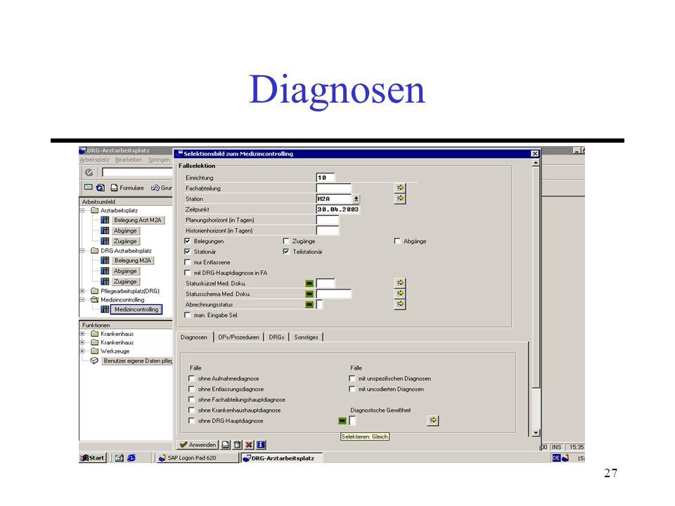 27 Diagnosen