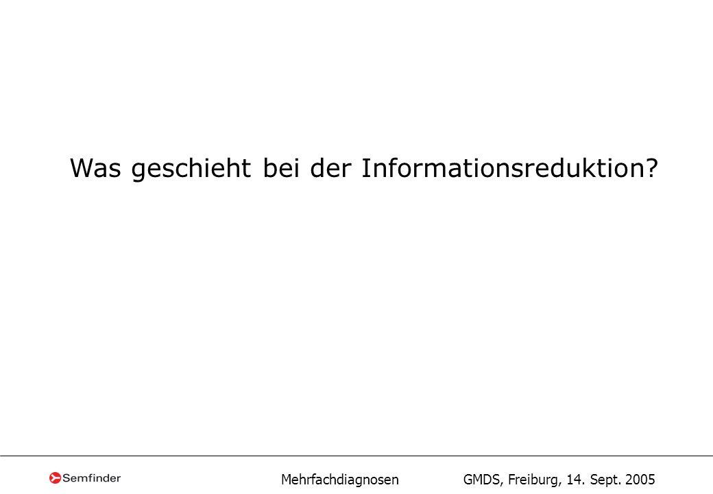 Mehrfachdiagnosen GMDS, Freiburg, 14. Sept. 2005 Summenproblem I10N28.9I12 Nenne Summe + = +=