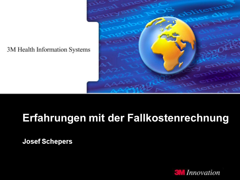 Josef Schepers Erfahrungen mit der Fallkostenrechnung