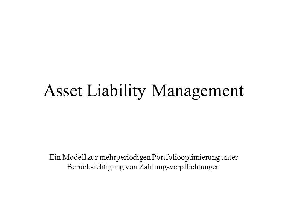 Asset Liability Management Ein Modell zur mehrperiodigen Portfoliooptimierung unter Berücksichtigung von Zahlungsverpflichtungen