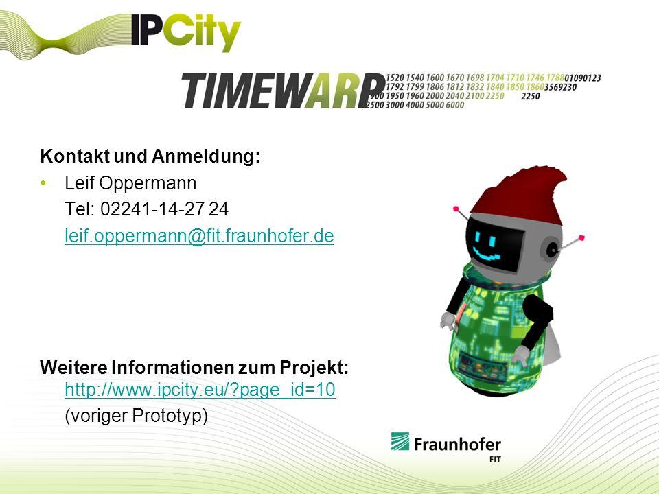 Kontakt und Anmeldung: Leif Oppermann Tel: 02241-14-27 24 leif.oppermann@fit.fraunhofer.de Weitere Informationen zum Projekt: http://www.ipcity.eu/?pa