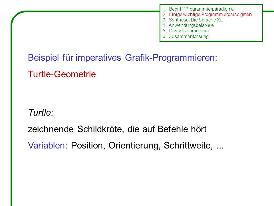 Beispiel für imperatives Grafik-Programmieren: Turtle-Geometrie 1.