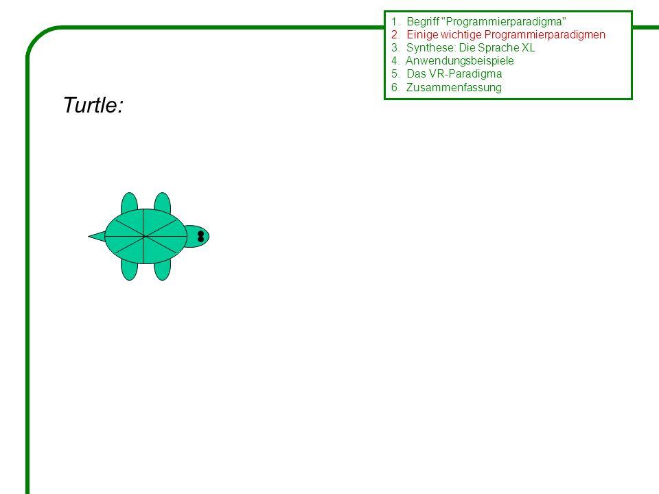 Turtle: 1. Begriff Programmierparadigma 2. Einige wichtige Programmierparadigmen 3.