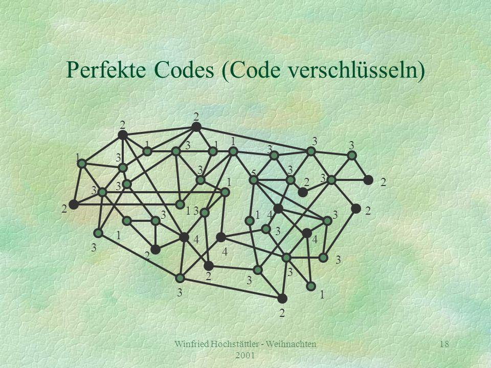 Winfried Hochstättler - Weihnachten 2001 19 Perfekte Codes (verschickter Code)