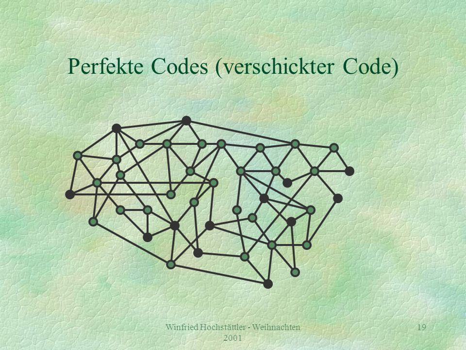 Winfried Hochstättler - Weihnachten 2001 20 Perfekte Codes (Code entschlüsseln)