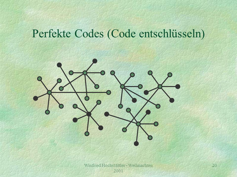 Winfried Hochstättler - Weihnachten 2001 21 5 3 Perfekte Codes (1-Bit decodiert) 3 4 3 3