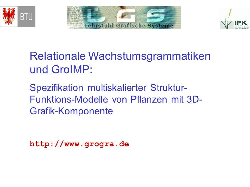 Relationale Wachstumsgrammatiken und GroIMP: Spezifikation multiskalierter Struktur- Funktions-Modelle von Pflanzen mit 3D- Grafik-Komponente http://w