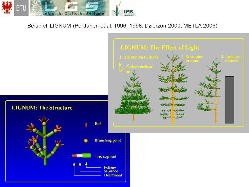 Beispiel LIGNUM (Perttunen et al. 1996, 1998, Dzierzon 2000; METLA 2006)