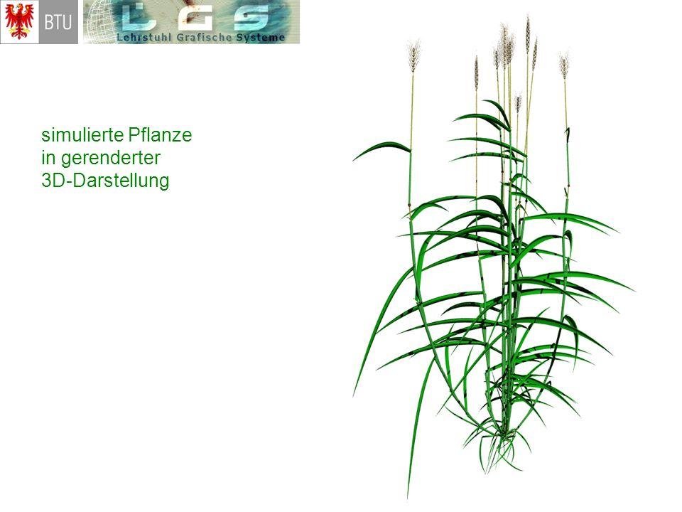 simulierte Pflanze in gerenderter 3D-Darstellung