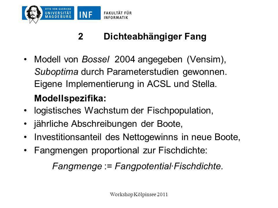 Kausalitäten im Fischerei-Modell (System Dynamics) Workshop Kölpinsee 2011